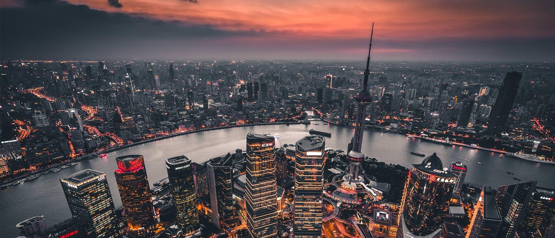מבט מלמעלה על שנגחאי