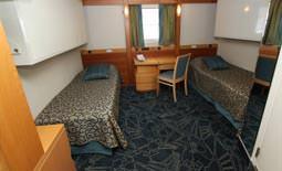 Ocean Endeavour - חדר זוגי בסיפון העליון | Ocean Endeavour