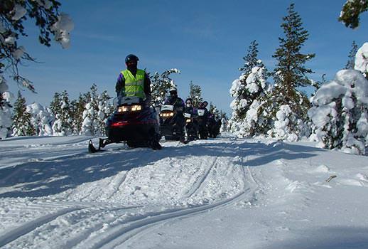 אופנועי שלג, לפלנד | צילום: דודו אדרי