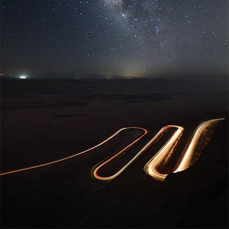 מכתש רמון - לילות של ירח מלא, טבע ואנשים